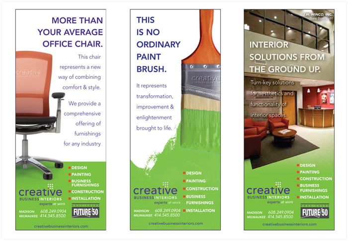 Creative Business Interiors print ads