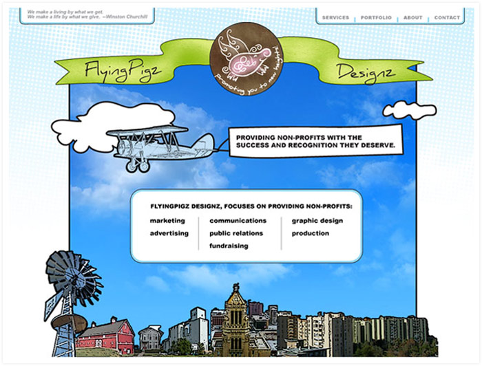 Flying Pigz Designz website