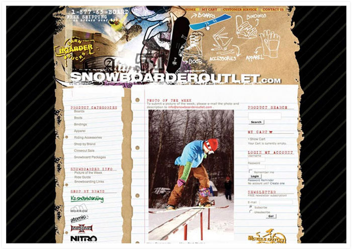 Snowboarder Outlet website