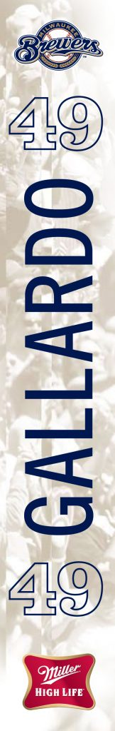 Milwaukee Brewer Stadium Banners - back