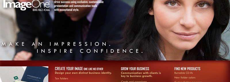 ImageOne website design