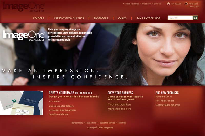 ImageOne website design