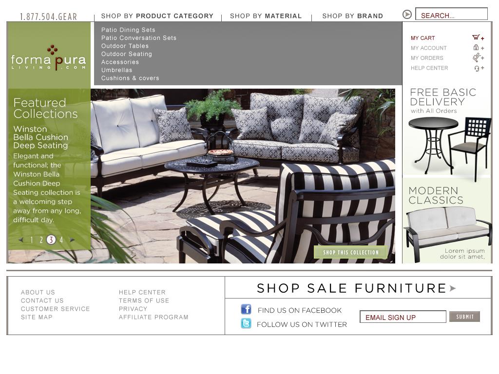 Forma Pura website design