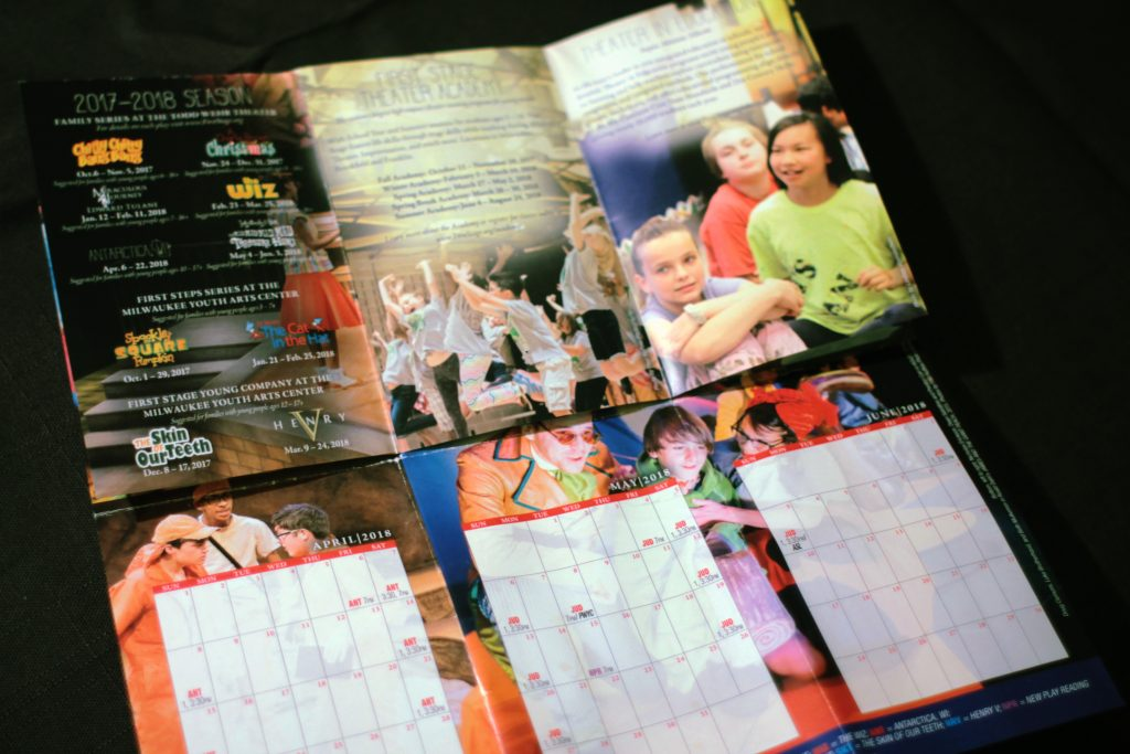 First Stage season promotional materials calendar