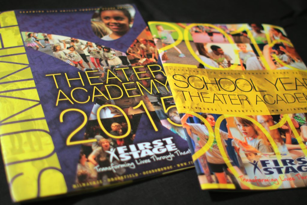 First Stage Theater Academy brochure cover designs